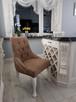 Krzesło tapicerowane pikowane z kryształkami nowe MODNE