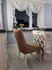 Krzesło pikowane z kołatką i pinezkami KRYSZTAŁKI nowe
