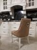 Krzesło glamour pikowane z  kołatką pinezkami z kryształkami - 2