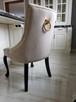 Krzesło z KRYSZTAŁKAMI pikowane kołatka pinezki GLAMOUR - 5