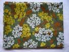 Materiał 307cm x 113cm kupon kwiatki kolorowe lejący - 1