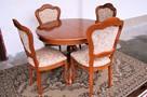 Stół Krzesła Ludwik Filip różne wzory - 4