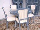 Stół Krzesła Ludwik Filip różne wzory - 8