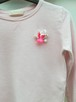 Zara Girls 140, Różowa Bluza dziewczęca z naszytym kwiatem - 1