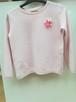 Zara Girls 140, Różowa Bluza dziewczęca z naszytym kwiatem - 3