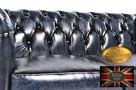 Chesterfielrd sofa 2 os antyczny niebieski - 4