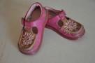 Różowe buciki, trzewiki marki CLARKS rozm. 22 - skóra natura - 5