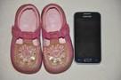 Różowe buciki, trzewiki marki CLARKS rozm. 22 - skóra natura - 8