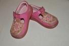 Różowe buciki, trzewiki marki CLARKS rozm. 22 - skóra natura - 1