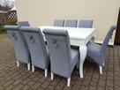 Krzesło nowoczesne tapicerowane Glamour z kołatką pinezkami - 4
