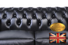 Chesterfield sofa 2 os Brighton czarna - 3