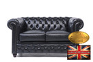 Chesterfield sofa 2 os Brighton czarna - 1