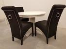 Krzesło tapicerowane nowoczesne z kołatką z ćwiekami nowe - 1