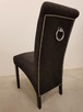 Krzesło tapicerowane nowoczesne z kołatką z ćwiekami nowe - 2