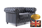 Chesterfield sofa 2 os Brighton czarna - 2