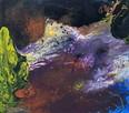 """Akryl na płótnie """"OBCE KRAJOBRAZY"""" obraz 100x90cm - 1"""