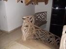 Schody gięte, rzeźbione, balustrady rzeźbione. - 3