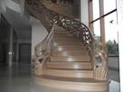 Schody gięte, rzeźbione, balustrady rzeźbione. - 1