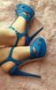 Śliczne kobaltowe szpilki STRADIVARIUS----NOWE!!!