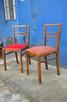 2 Krzesła, Krzesło tapicerowane PRL, Meble PRL,