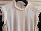 ZARA bluzka z jedwabiu kolor ecri rozmiar M - 1