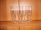 Sprzedam kieliszki do szampana/wina(7szt.).Wys. 21,5 cm.,śre