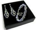 Komplet Ślubny Swarovski Crystal błękit - 1