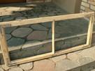 Stare okna drewniane rama retro loft lustro zdjęcie 114x52 - 1
