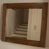 Lustro w drewnianej ramie 64x56, loft