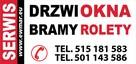 SERWIS naprawa Okna drzwi Rolety bramy Segmentowe - Montaż