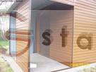 drewnopodobny garaż blaszak 6x6 wzmocniony profil orzech dąb