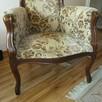 Stolik marmur i mosiądz i fotele eklektyk - 3
