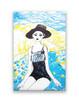 nowoczesny obraz, obraz canvas, lato obraz pop art z dziewcz