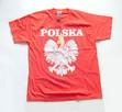 nowa koszulka z orzełkiem, czerwona koszulka z napisem Polsk