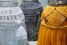 Makrama, lampion, ręcznie robiona, boho styl - 2