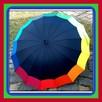 JB Czarne Parasol Deszczowy Półautomatyczne Laski z Wygiętą