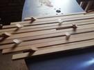 Drewniany wieszak ścienny, wieszak - 4