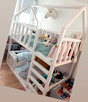 Piętrowe łóżko domek / drewniane piętrowe łóżko / łóżko dome
