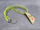 NOWY Naszyjnik Lamp Work zielono czerwony wisior maki róże - 2