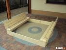 Piaskowncia drewniana z ławeczkami 150x150 zamykana Opole
