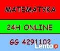 Matematyka, Statystyka - rozwiązywanie zadań ONLINE 24h GG