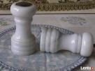 Marmurowa DUZA SOLNICZKA+Piepszniczka środek stołu ANTYK - 6