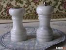 Marmurowa DUZA SOLNICZKA+Piepszniczka środek stołu ANTYK - 3
