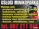Usługi minikoparką, drenaże,odwodnienia izolacje Częstochowa