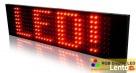 Wyświetlacz led, reklama led, tablica led 25x100cm - TANIO - 1