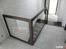 Schody drewniane z balustradą szklaną Dobrzeń Wielki