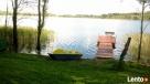 nowy domek z bala nad jeziorem Sejny