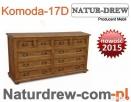 Komoda 17 D z drewna Duża, meble z drewna Producent -- Hit - 1