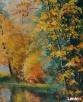 obraz olejny jesienny las Kielce