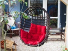 Fotel bujany wiklinowy wiszący PRODUCENT - 4